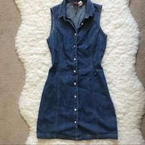 Vintage boho Old navy denim dress 90's mini